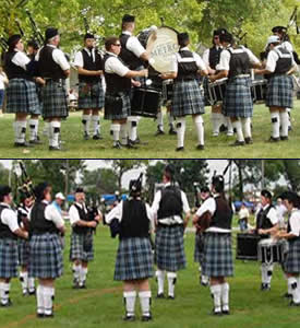 image of Twin Cities Metro Pipe Band competition circle