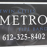 image of Twin Cities Metro Pipe Band logo and phone number