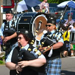 Twin Cities Metro Pipe Band marching